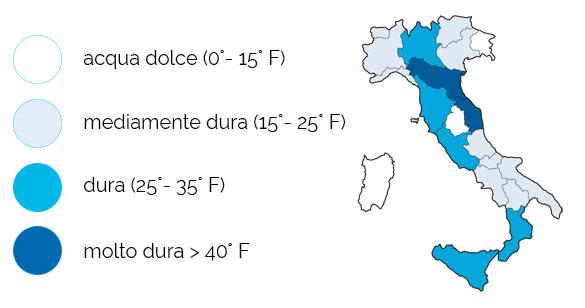 Durezza dell'acqua in Italia